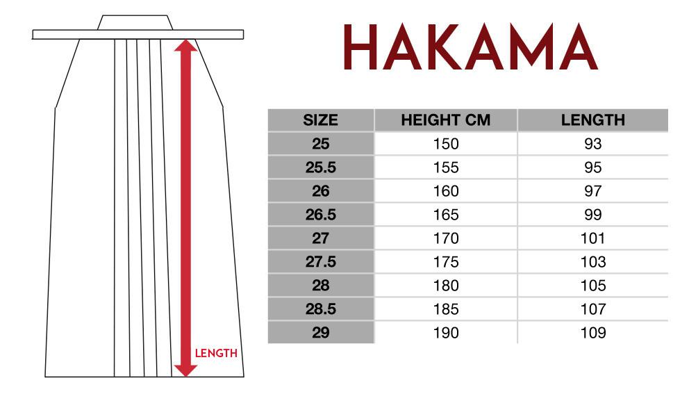 HAKAMA TAILLE